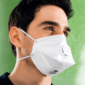 "Masque papier jetable PLIABLE + valve ""PREMIUM"" FFP2 NR (x20)"