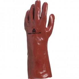 Gant chimique pvc rouge 350mm Taille 10
