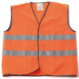 Gilet haute visibilité Orange + bande rétro-réfléchissant