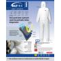"""Combinaison jetable Haute-visibilité """"risques élevés"""" (Cat III, type 5 & 6)"""