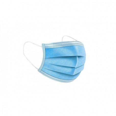 """Masque jetable de chirurgien 3 plis (lot de 50) """"T.V.A 5.5%"""""""