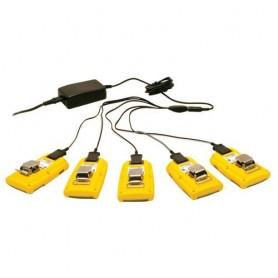 Chargeur araignée secteur 220volts pour 5 détecteurs 4 GAZ BW