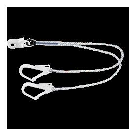 Double longe de sécurité 1m50 Ø12mm + connecteurs